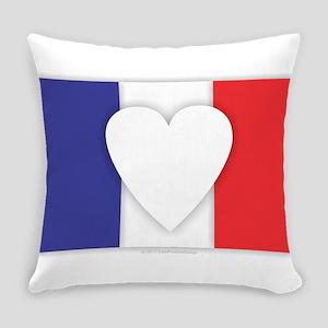 France Flag Design Everyday Pillow
