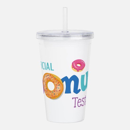 Official Donut Tester Acrylic Double-wall Tumbler