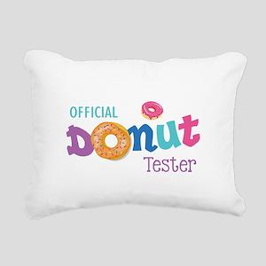 Official Donut Tester Rectangular Canvas Pillow