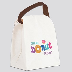 Official Donut Tester Canvas Lunch Bag