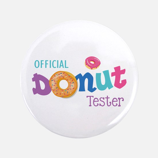 Official Donut Tester Button