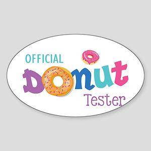 Official Donut Tester Sticker