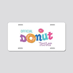 Official Donut Tester Aluminum License Plate