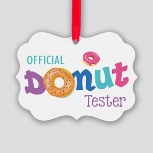 Official Donut Tester Picture Ornament