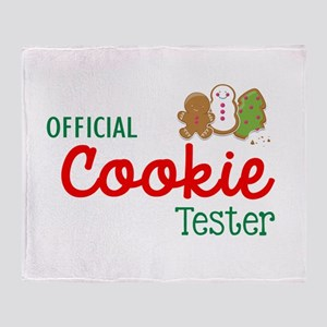 Official Cookie Tester Throw Blanket