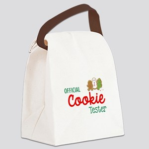 Official Cookie Tester Canvas Lunch Bag