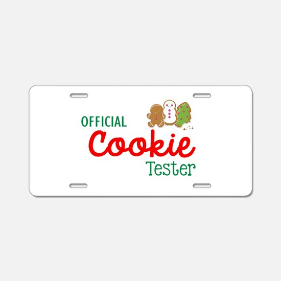 Official Cookie Tester Aluminum License Plate