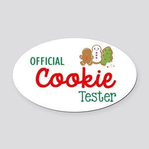 Official Cookie Tester Oval Car Magnet