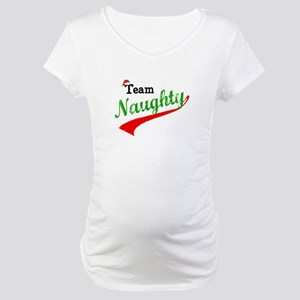 Team Naughty Maternity T-Shirt