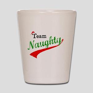 Team Naughty Shot Glass