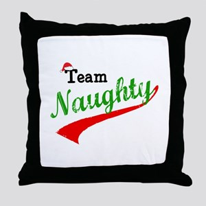 Team Naughty Throw Pillow