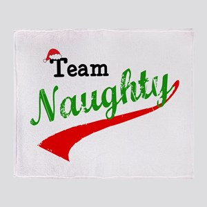 Team Naughty Throw Blanket
