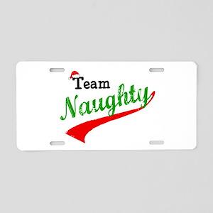 Team Naughty Aluminum License Plate