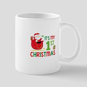 It's My 1st Christmas Mugs
