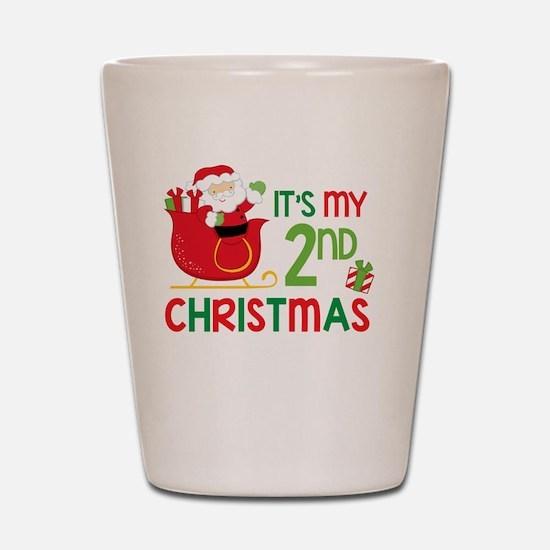 It's My 2nd Christmas Shot Glass