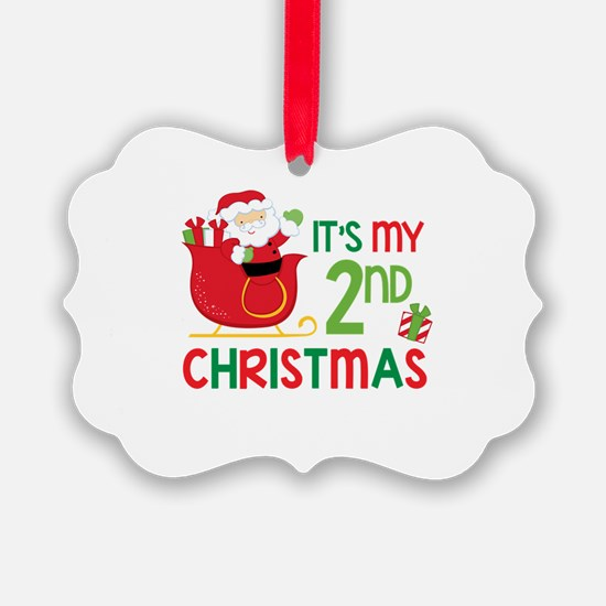 It's My 2nd Christmas Ornament