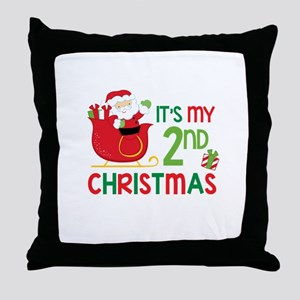 It's My 2nd Christmas Throw Pillow
