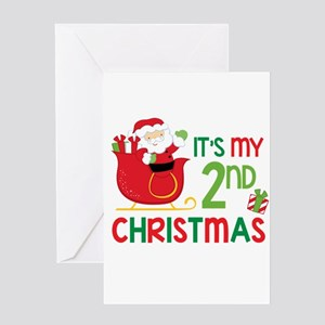 It's My 2nd Christmas Greeting Cards