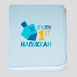 It's My 1st Hanukkah baby blanket