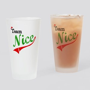 Team Nice Drinking Glass