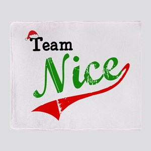 Team Nice Throw Blanket