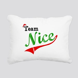 Team Nice Rectangular Canvas Pillow