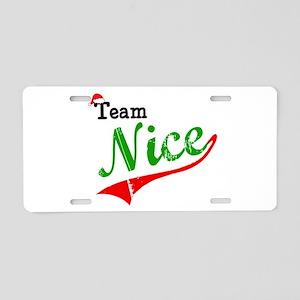 Team Nice Aluminum License Plate