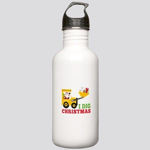 I Dig Christmas Stainless Water Bottle 1.0L