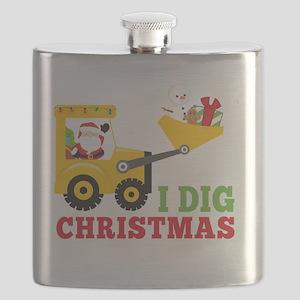 I Dig Christmas Flask