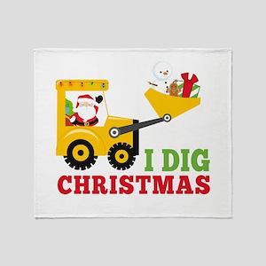 I Dig Christmas Throw Blanket
