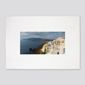 Santorini in the Afternoon Sun 5'x7'Area Rug