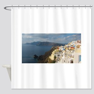 Santorini in the Afternoon Sun Shower Curtain