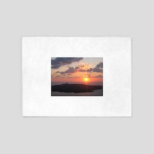 Brilliant Santorini Sunset 5'x7'Area Rug