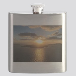 Golden Santorini Sunset Flask