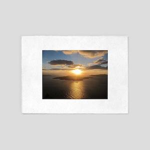 Golden Santorini Sunset 5'x7'Area Rug