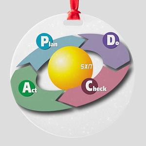 PDCA - Plan Do Check Act Round Ornament
