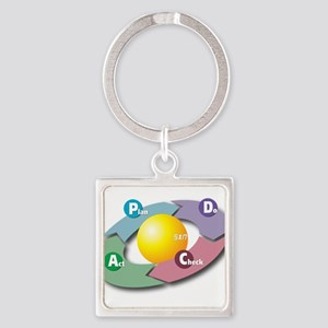 PDCA - Plan Do Check Act Keychains