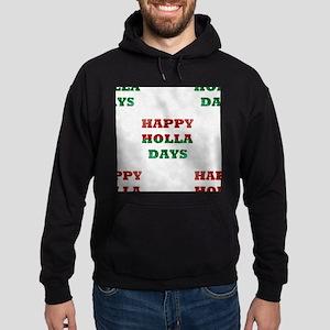 christmas happy holla days Hoodie (dark)
