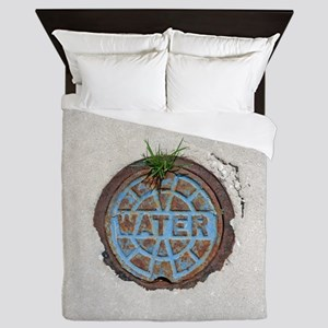 From water, grass grows and iron rusts Queen Duvet