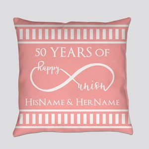 Infinity 50th Wedding Anniversary Everyday Pillow