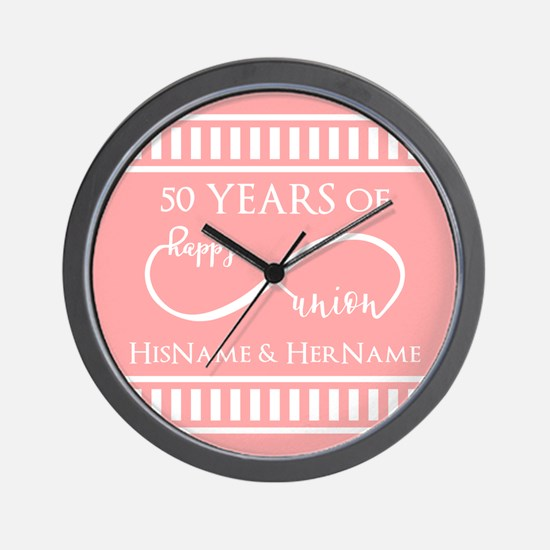 Infinity 50th Wedding Anniversary Perso Wall Clock