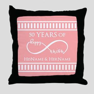 Infinity 50th Wedding Anniversary Per Throw Pillow