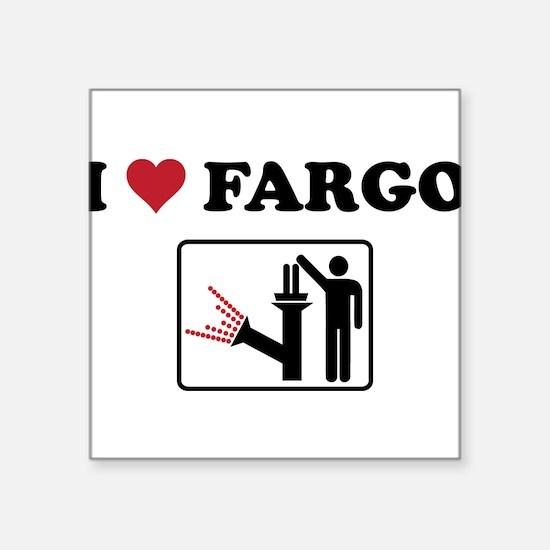"""Unique Fargo Square Sticker 3"""" x 3"""""""