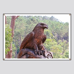 Eagle totem carving, Portugal 2 Banner