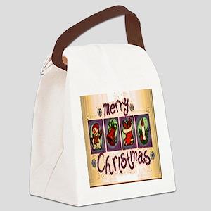 Merry Christmas Season Canvas Lunch Bag