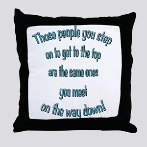Getting to the Top Throw Pillow