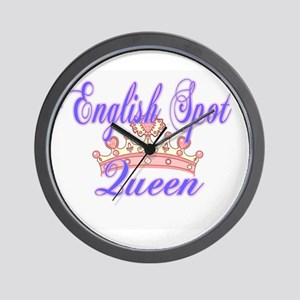 English Spot Queen Wall Clock