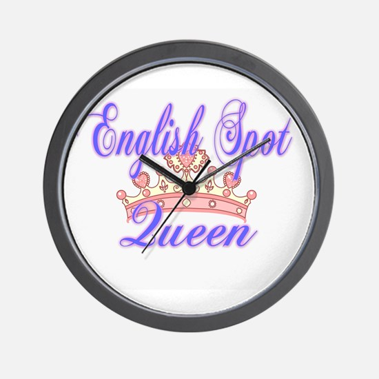 English Spot Queen Wall Clock