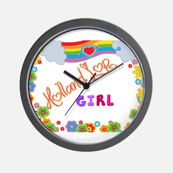 Holland Lop Girl Wall Clock