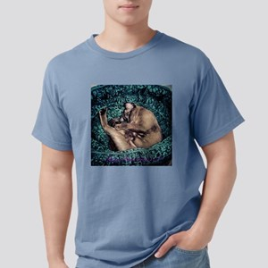 Burmese in Teal Cat Bed T-Shirt